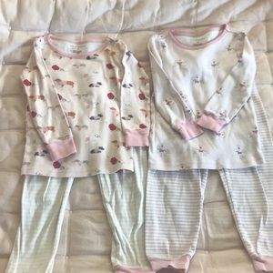 2 Janie and Jack girls long sleeve two piece PJs.